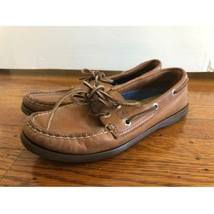 Sperry Women's Topsider Shoe, Brown, Size 7.5